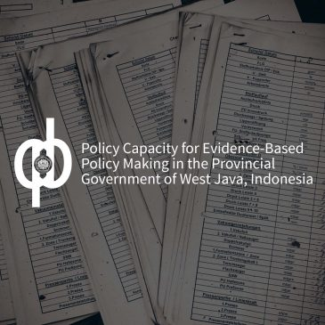 Policy Capacity for Evidence-Based Policy Making in the Provincial Government of West Java, Indonesia